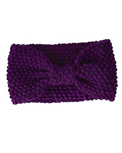 Magid Turban Knit Headband, Purple, One Size