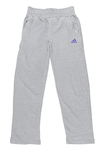 Adidas Big Girls Cotton Fleece Pants Large 14 Medium Grey