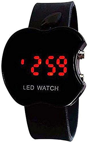Swiss Rock Apple Shape Black Digital Watch Gift For Boys Girl X-mass Diwali Dipawali by NexxaTM