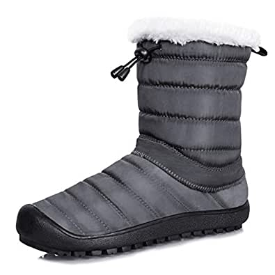 Amazon.com   Mens Womens Snow Boots Removable Zipper