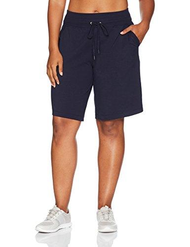 Danskin Women's Plus Size Essential Bermuda Short, Midnight Navy, 1X