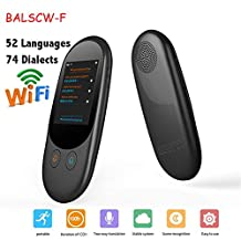 Smart Language Translator Device,52 langauge Two-Way Real time Translator Portable Office Electronic,for Learning Trave,White