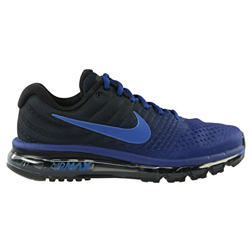 Nike Mens Air Max 2017 Running Shoes, Deep Royal Blue/Hyper Cobalt/Black, (13 D(M) US)