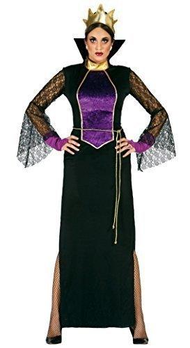 Snow Queen Costume Uk (Ladies 5 Piece Evil Mirror Queen Snow White Halloween Fancy Dress Costume Outfit UK 14-16-18 by Fancy Me)