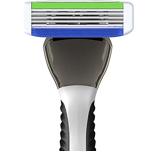 PREMIUM RAZORS (12pk + Handle) 3-Blade Shave Kit by SWIPE (Shaving Handle Razor)