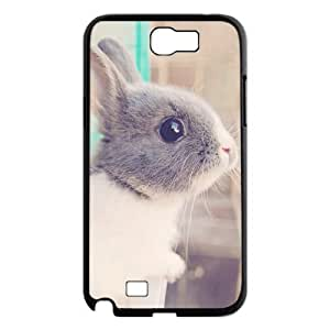 Pharrel Bunny Samsung Galaxy Note 2 Case Cute Rabbit, Protection Cute Bunny, {Black}