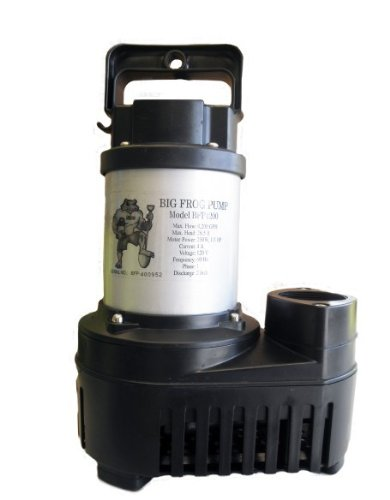 Anjon Big Frog Eco-Drive 5500 GPH Submersible Pond Pump BFED5500 (5500 Waterfall Gph Pump)
