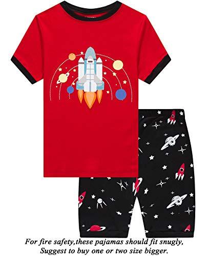 Dolphin&Fish Boys Pajamas 100% Cotton Space Summer Short Set Toddler Clothes Kids Pjs Sleepwear Size 5 -