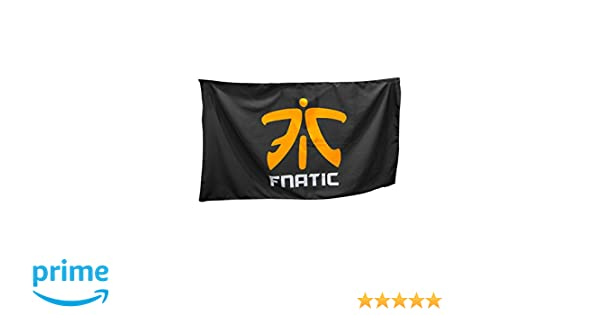 Fnatic Supporters Banner, negro - 150cm x 90cm