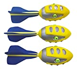 Set of 3 Sports Foam Whistling Missile Footballs (12-Inches)