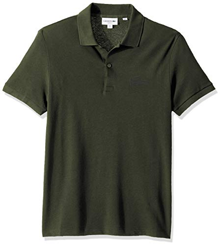 Lacoste Men's S/S Graphic Croc Petit Pique Polo Slim FIT, Caper Bush, X-Large ()