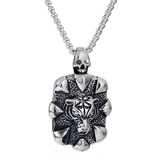 - MAlex Necklace Chain Tiger Head Pendant Titanium Steel Chao Man Rock Retro Necklace