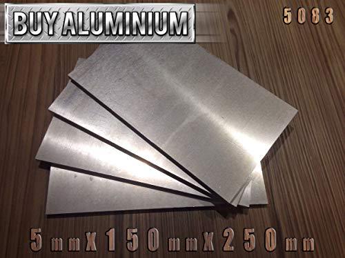 5083 Aluminiumplatten 5 mm 150 x 250 mm