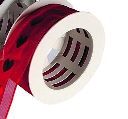 25mm x 3m Weiß Seidenband mit Draht