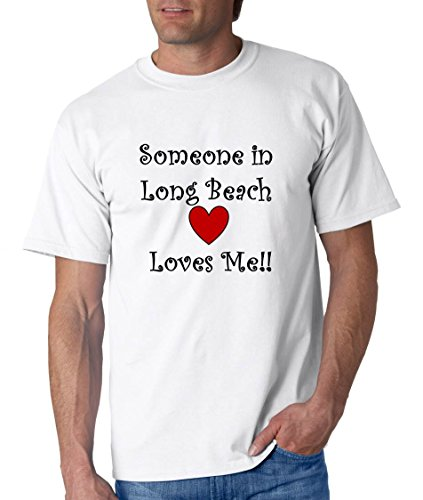 SOMEONE IN LONG BEACH LOVES ME - City-series - White T-shirt - size XXL
