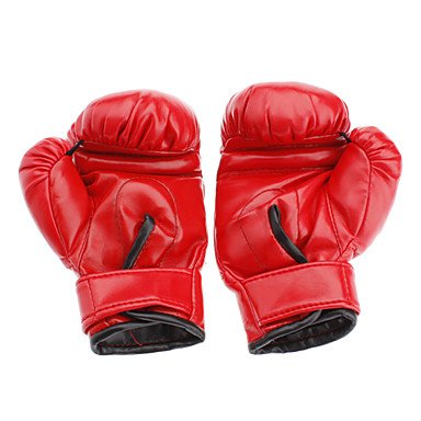ZX Red PU Leather Soft Boxing Gloves for Children