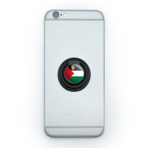 Mobile Smart Phone Finger Ring Grip Holder Stand Country National State Flag O-S - Palestine National Country Flag