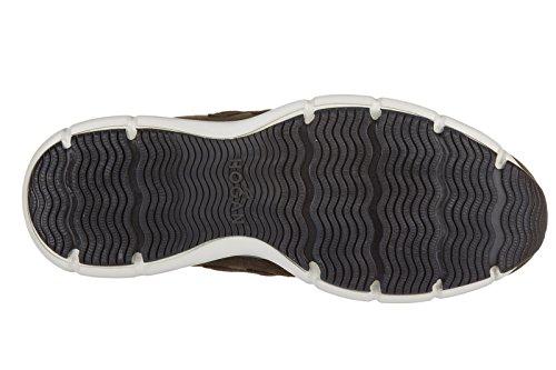 Hogan chaussures baskets sneakers homme en daim traditional h3d marron
