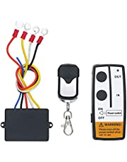 Sedritent Universal Wireless Winch 2 Remotes Control Kit for Truck Jeep SUV ATV 12V-24V 50ft Switch Handset