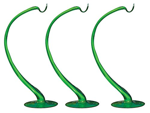 (Christmas Ornament Stand, Hand-Blown Glass Vivid Green, 9