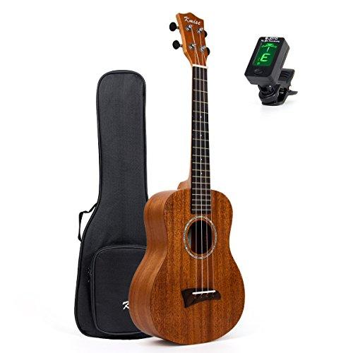 Kmise Solid Mahogany Top Tenor Ukulele 26 inch Hawaii Guitar Rosewood Bridge Matt W/Bag and JOYO Tuner