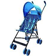 Wonder Buggy Skylar Jumbo Umbrella Stroller, Rounded Hood, Teal Blue, Large