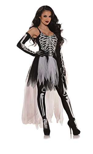 Underwraps Costumes Women's Sexy Skeleton Costume-Tutu, Black/Grey/White, Small
