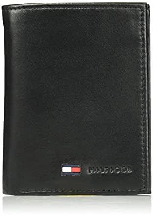 13fe5ce8e6c8 Image Unavailable. Image not available for. Color  Tommy Hilfiger Trifold  for Men- Big Skinny Wallet with Leather Credit Card Pockets ...