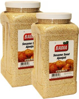 Badia Sesame Seed (Hulled) 5 lbs Pack of 2 by Badia