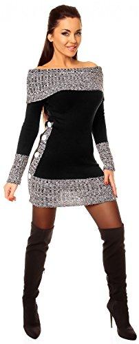 Zeta Ville - Jerséi - suéter - Básico - Manga Larga - para mujer negro