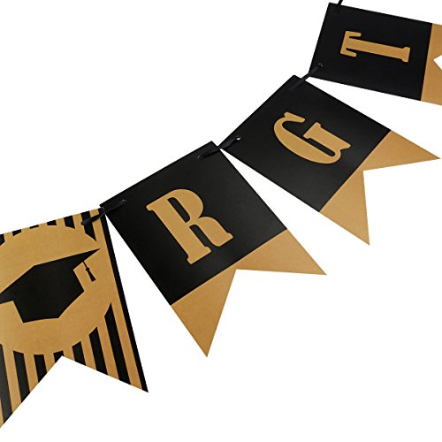 graduation banner decorations 2018 congratulations signs w black