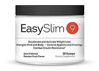 EasySlim 9 - Intermittent Fasting Supplement, Appetite Control, Weight Loss, Suppresses Cravings & Combats Insulin Resistance. Energize Mind and Body.