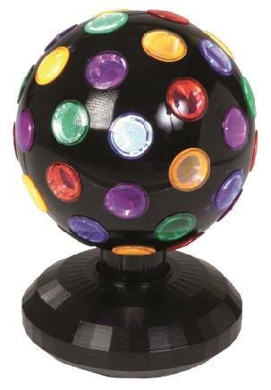 Lightahead 6 inch 360 degree rotating LED Disco Ball Light with UL adaptor  Multi Color Rotating