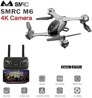 RONSHIN RC Drone SMRC M6 Follow Me Quadrocopter Drones de Bolsillo ...