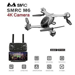 MeterMall Drone SMRC M6 Follow Me Quadrocopter Drones de Bolsillo ...