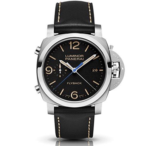 Panerai Men's PAM00524 Luminor Analog Display Swiss Automatic Black Watch Mens Big Square Automatic Watch