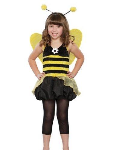 Seasons Girls Queen Honeybee Costume Bee Dress & Wings S (Queen Bee Costumes For Kids)