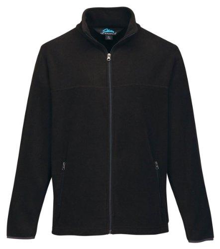 Tri-Mountain Men's Alpine Midweight Micro-Fleece Jacket, 2XL, BLACK