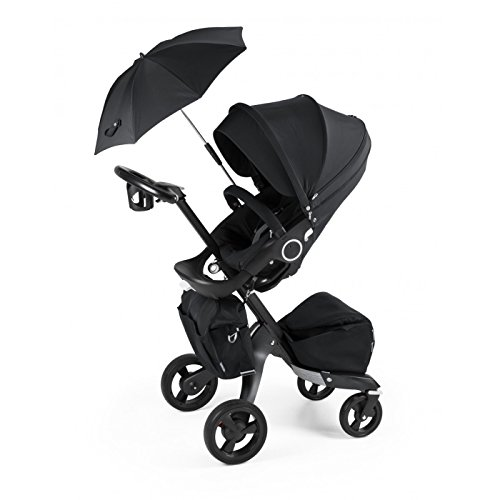 Stokke Xplory True Black (Limited Edition) With Extras: Parasol - Changing Bag - Cup Holder
