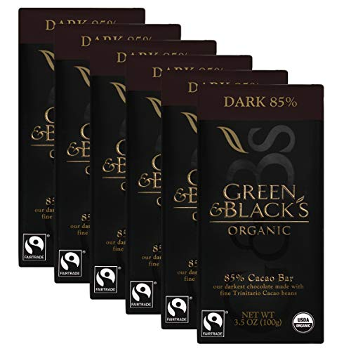 (Green & Black's Organic 85% Dark Chocolate Candy Bars, 6)