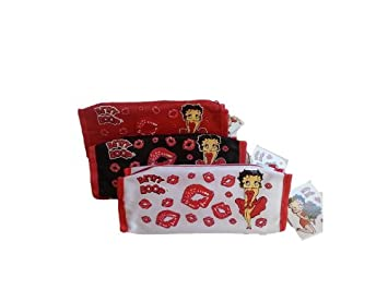 Amazon.com: Betty Boop Makeup Bag Bundle Includes: 3 bolsas ...