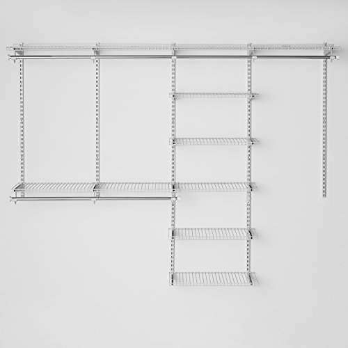 configurations on shelving titanium kit cfm add master hayneedle product and rubbermaid closet hang system
