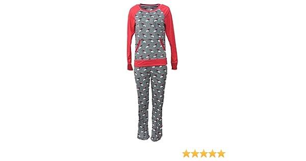393cbfb206 Celestial Dreams Junior Womens Gray Puppy Dog Print Pajamas Fleece Pajama  Set L at Amazon Women s Clothing store