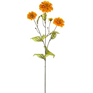 "26"" Silk Zinnia Flower Spray -Orange (Pack of 12) 79"