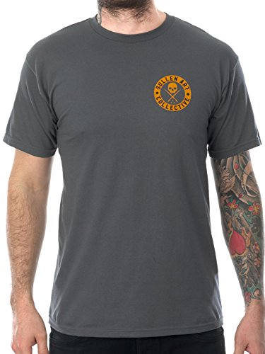 Sullen Clothing Men's Badge of Honor Bricks Premium Short Sleeve Tee, Charcoal, (Honor Short Sleeve Tee)