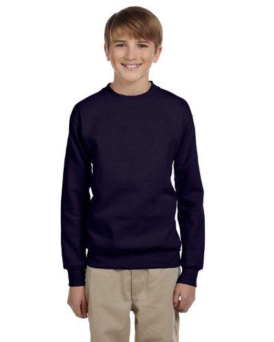 (Hanes Youth ComfortBlend® EcoSmart® Crewneck Sweatshirt_Navy_L)