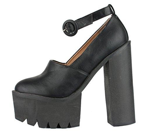 Heeled Style Womens Heel Booties MID 3 8 Ankle Block Size Black Platform 1 Chelsea HIGH Winter Boots Ladies POP aAdwq0a