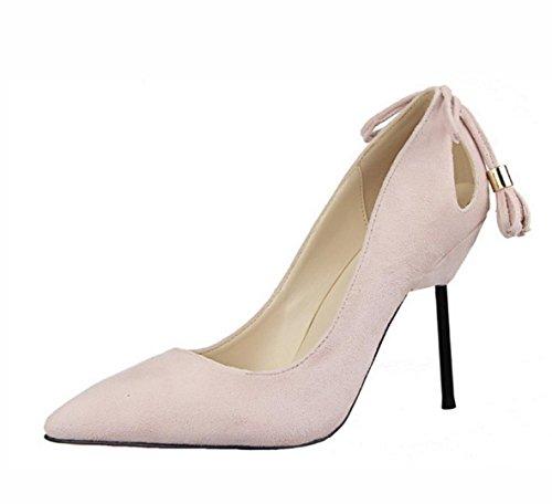 Die neuen Frau dünnen Wildleder hochhackigen Schuhe mit hohen Absätzen Anhänger Fersen , 39 , pink