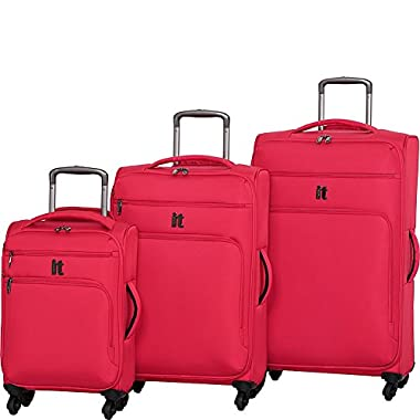 IT Luggage MegaLite Luggage Collection 3 Piece Spinner Luggage Set (Fiery Red)