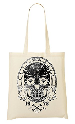 Fourre Collection tout Sac 1978 school Sac Old provisions Death Date Creepy Skull Death à Celebration qtBxPv